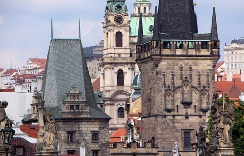 Prague, la ville aux cent clochers est inscrite sur la liste du patrimoine mondial de l'Unesco (photo David Raynal) .