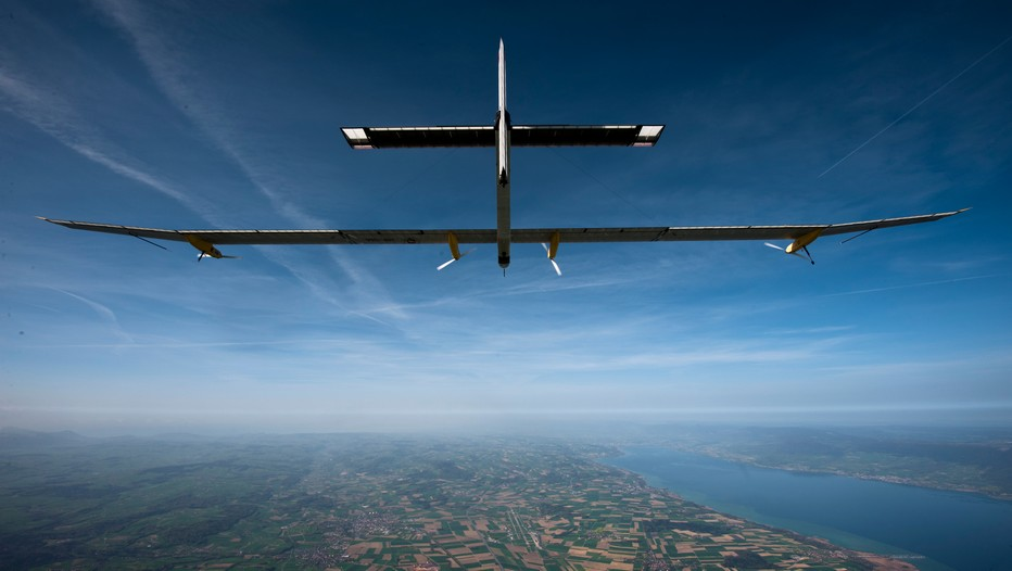 Solar Impulse 2 gagne son  tour du monde avec escales. © Solar Impulse