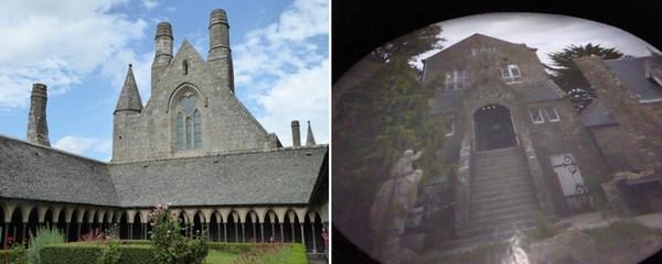 De gauche à droite : Abbatiale.  © Catherine Gary ; Vue à travers le périscope.  © Catherine Gary