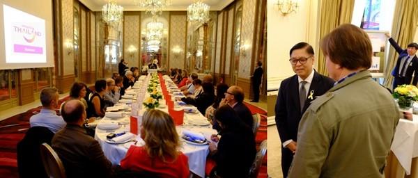 Quelques jours après les attentats, l'ambassadeur de Thaïlande en France, Sihasak Phuangketkeow, a tenu à prendre la parole devant les professionnels qui commercialisent la destination en France. Crédit photo OT Thaïlande