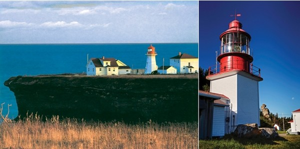 De gauche à droite : Phare Cap Espoir et Phare du Cap Chat. © Québec Maritime et ©  Patrick Matte