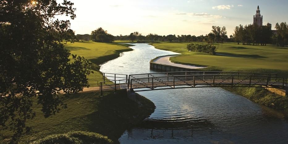 Au cœur d'un environnement privilégié de 60 hectares de jardin tropical, le parcours de golf du Biltmore est un parcours 18 trous par 71, dessiné par Donald Ross, l'un des architectes les plus connus aux Etats-Unis.  © The Biltmore