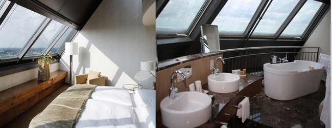 Des chambres de bas en haut jusqu'au sommet où culminent les deux Tower. © mövenpick.com