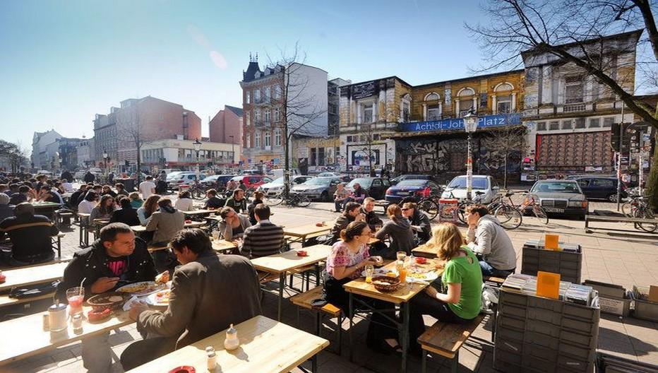 l'insolite quartier du SternSchanze, à 10 minutes du Mövenpick.  © DR