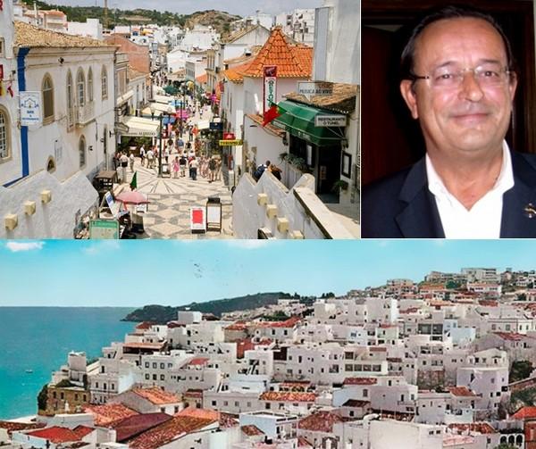 Différentes vues sur la ville d'Albufeira et photo de Carlos Silva e Sousa, maire de la ville d'Albufeira.  © www.visitportugal.com/fr