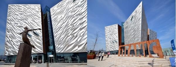 L'édifice du Titanic Belfast, qui a ouvert ses portes en 2012, mesure la même taille que le paquebot. © David Raynal et Juliette Raynal