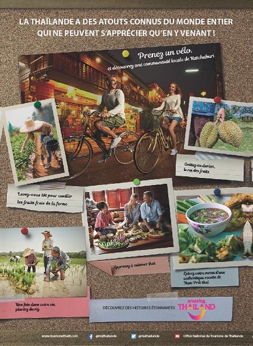 Nouvelle campagne d'affichage du tourisme de niche en Thaïlande.  © Office National du Tourisme de Thaïlande
