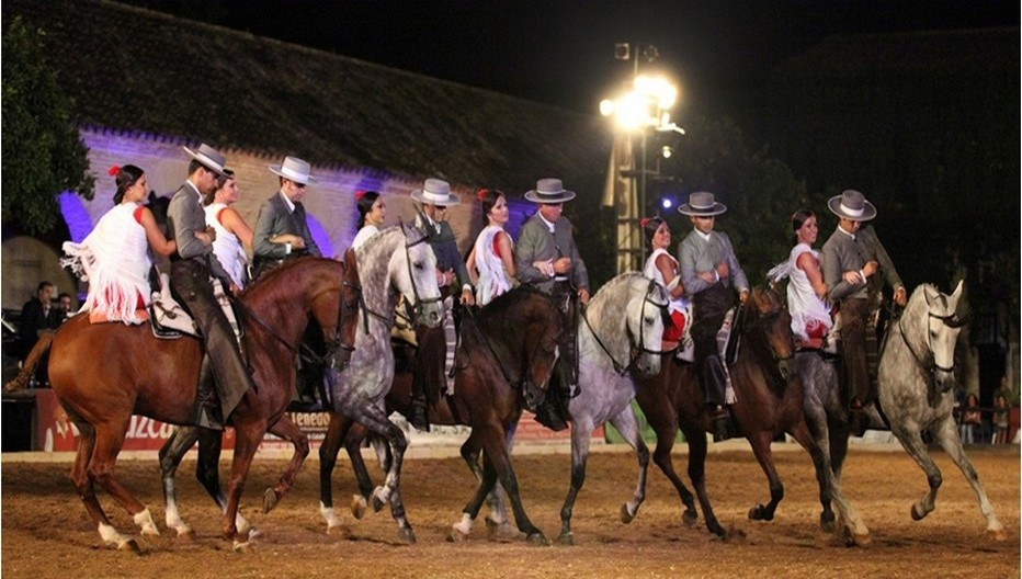 Spectacle exceptionnel de chevaux andalous dans une ambiance flamenco.  © O.T. Spain