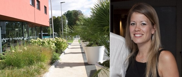 De gauche à droite : Allée verdoyante du Nomad-Hôtel   © Richard Bayon. Maïwenn PRISER - Responsable Marketing de la chaîne NOMAD. © Hôtels Nomad