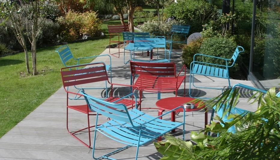 Le jardin va  de pair avec un concept comme NOMAD Hotels. Il accompagne la convivialité du lieu et offre une véritable bouffée d'oxygène aux visiteurs.  © Richard Bayon