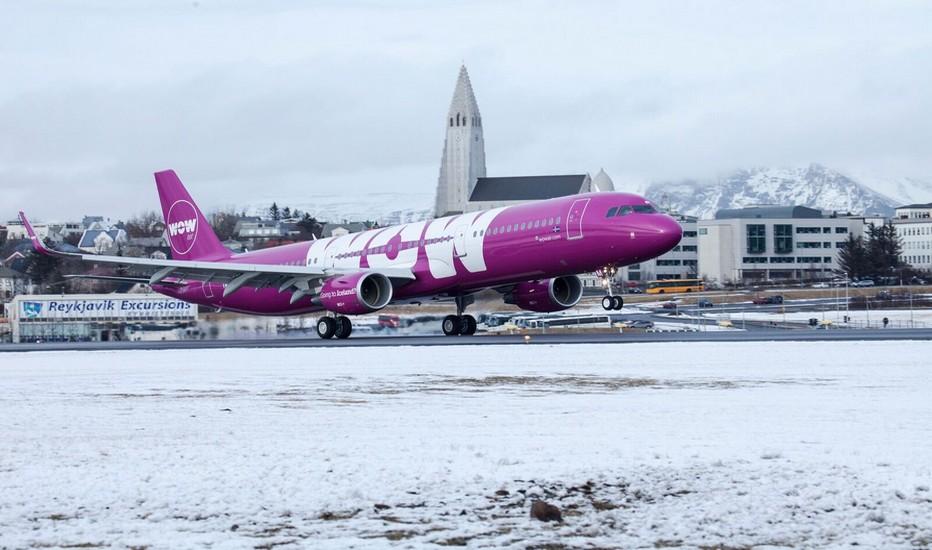 Wow Air arbore du rose pourpre sur son fuselage depuis sa création il y a cinq ans.