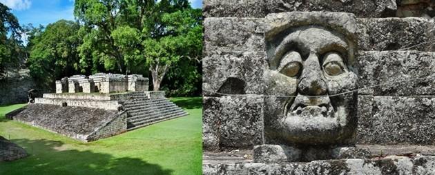 Le site de Copan possède  les plus belles stèles et les décors sculptés les plus raffinés de tout l'empire maya. © Catherine Gary