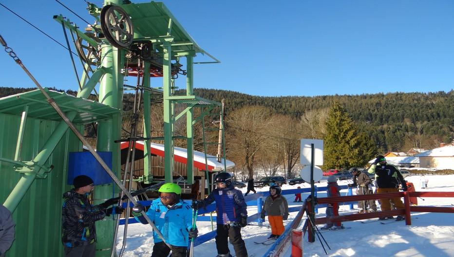 C'est parti pour une journée de ski... ©Bertrand Munier