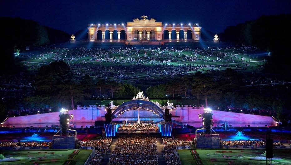 Concert dans les jardins de Schönbrunn.  © O.T. Vienne Richard Schuster