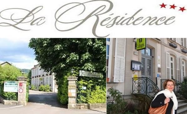 Magnifique entrée sur L'hôtel restaurant ajolais « La Résidence » © DR et  ©Bertrand Munier