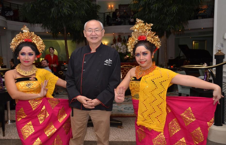 William Wongso au Shangri-La Hotel Paris à l'occasion de son passage en février dernier à Paris, pour la semaine de la gastronomie indonésienne.  © David Raynal