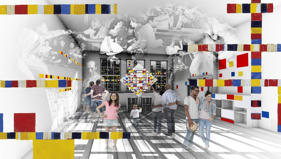 Impression d'artiste nouveau Mondriaanhuis  ©  Rétameur Imagineers