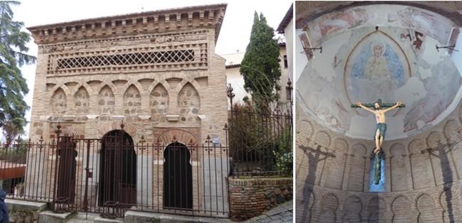 la Mezquita du Christo de la Luz, la plus jolie, toute simple avec ses arcs cintrés et son plan carré;   Intérieur de la Mezquita devenue église  chrétienne © Catherine Gary