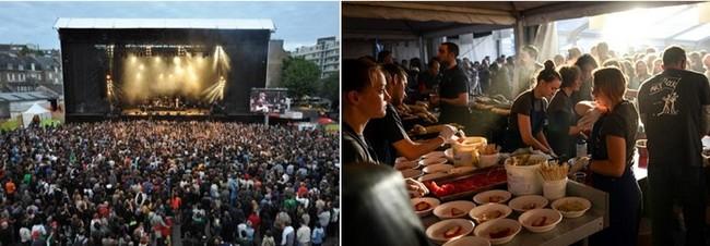 Le festival Art Rock de Saint-Brieuc est un événement pluridisciplinaire (musique, danse, théâtre, spectacles de rue, arts numériques, arts visuels, gastronomie…). Crédit photos O.T. Bretagne