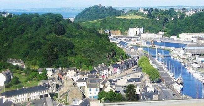 Vue générale du port du Légué à Saint-Brieuc . Crédit photo Tourisme Bretagne