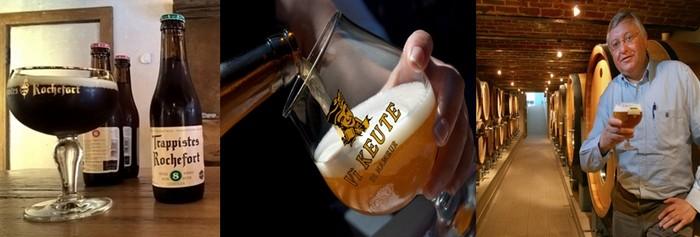 Tout au long de cette première édition du W Food Festival, la bière sera également mise à l'honneur.De gauche à droite ,bière des trappistes de Rochefort © David Raynal ; De Namur la viKeute-Biere_(c)WBT-EmmanuelMathez ; Pipaix-BrasserieDubuisson_(c)WBT-GabrieleCroppi