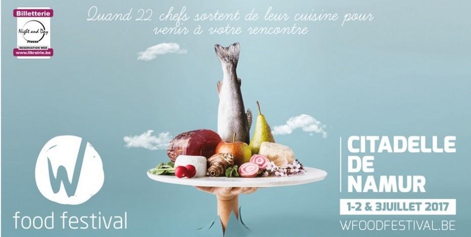 Affiche du festival  gourmand de Namur (Belgique)© W Food Festival