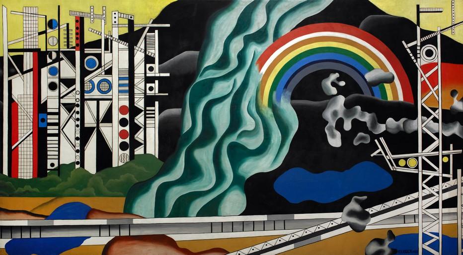 Fernand Léger, Le Transport des forces, 1937 Huile sur toile, 491 x 870 cm Centre national des arts plastiques Dépôt au Palais de la découverte © Adagp, Paris, 2017 / CNAP / photographe : Yves Chenot
