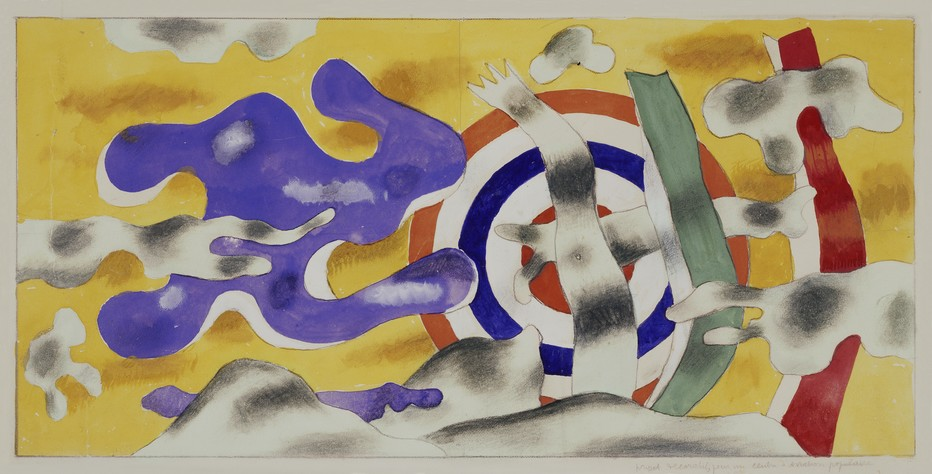 Fernand Léger, projet décoratif pour un centre d'aviation populaire. 1940 (C) ADAGP, Paris Credit:  Photo (C) Centre Pompidou, MNAM-CCI, Dist. RMN-Grand Palais / Droits réservés centre national d'art et de culture Georges-Pompidou.