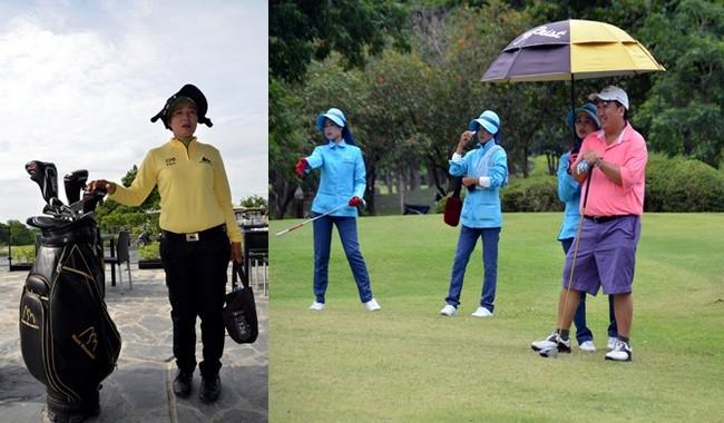 L'une des spécificités de la Thaïlande est de recourir aux services de caddies féminins spécialement formés pour guider et accompagner les golfeurs sur tous les types de parcours.© David Raynal