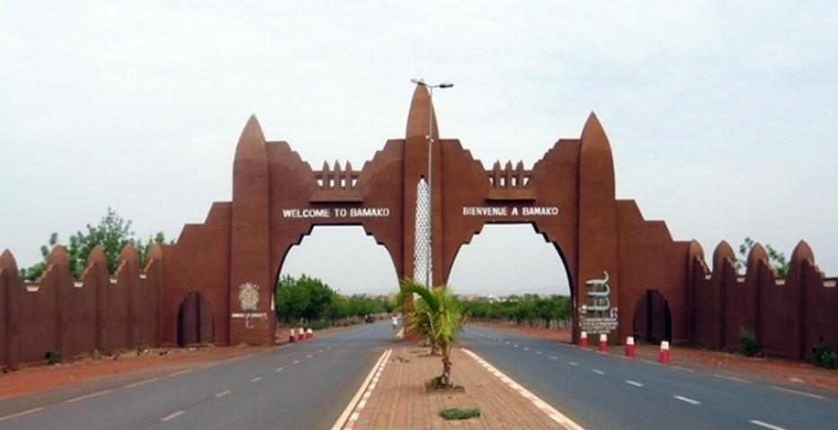 Les magnifiques portes  de Bamako (Mali) à l' architecture néo-soudanaise....Copyright DR