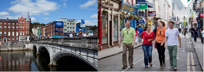 Cork la deuxième ville de la République gaélique qui depuis toujours se pique de rivaliser avec Dublin. Crédit photo office de tourisme de l'Irlande.