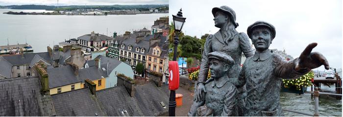 La statue d'Annie Moore (Annie Moore Monument) commémore l'émigration irlandaise vers les États-Unis. Elle rend hommage à Annie Moore (1874-1924), qui fut la première émigrante irlandaise à rejoindre New York en passant par Ellis Island le 1er janvier 1892.Crédit photo David Raynal