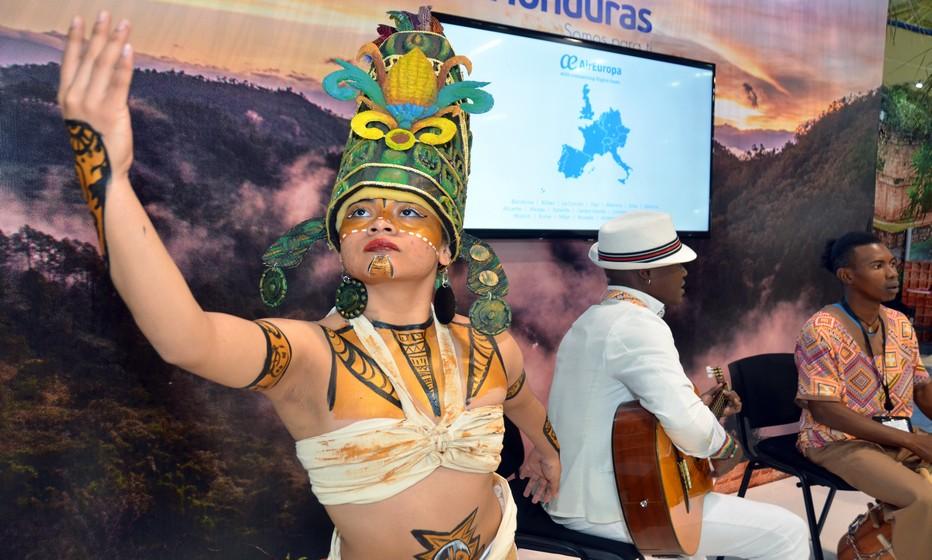 Les sept pays d'Amérique centrale étaient réprésentés au salon du tourisme de San Salvador (ici le Honduras).Crédit photo David Raynal