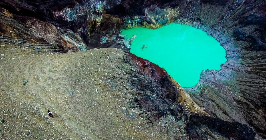 Vue aérienne du cratère du volcan Ilamatepec, Santa Ana. Crédit photo office de tourisme du Salvador