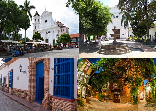 Tout le charme des villages authentiques autour de Medellin... De magnifiques boutique-hôtels vous y accueillent. Copyright C.Gary et D.R.