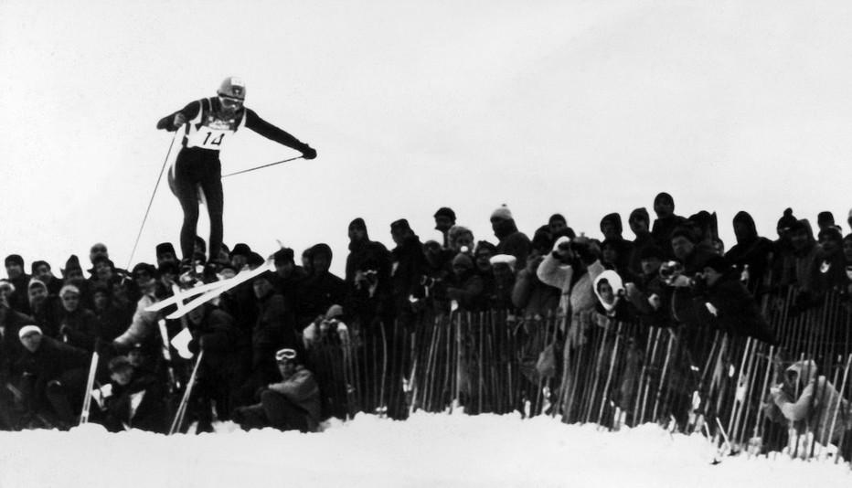 Jeux Olympiques de 1968 dans les Alpes . Copyright Getty-Images
