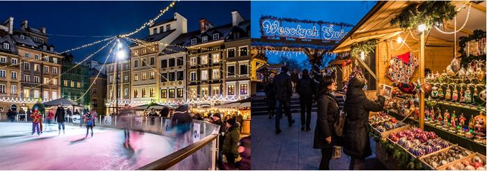 Un peu partout à Varsovie, des échoppes sont illuminées, mais les plus belles se trouvent entre le château et le marché de la vieille ville. Crédit photo MACIEK LESZCZELOWSKI.