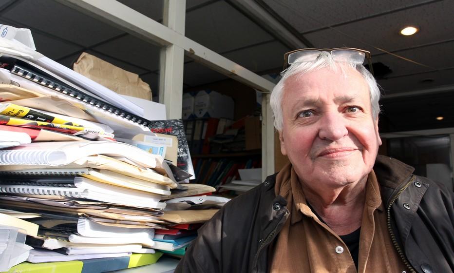 A livre ouvert avec  le célèbre éditeur Jean Picollec  . Copyright David Raynal