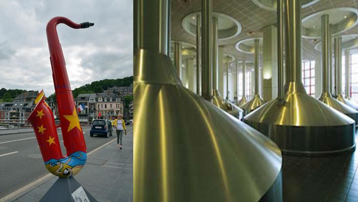 Dinant est aussi la ville natale du célèbre Adolphe Sax, le créateur du saxophone et abrite au creux d'une vallée avoisinante l'abbaye de Leffe qui a donné son nom à une bière de renommée internationale.. Crédit photo David Raynal et D.R.