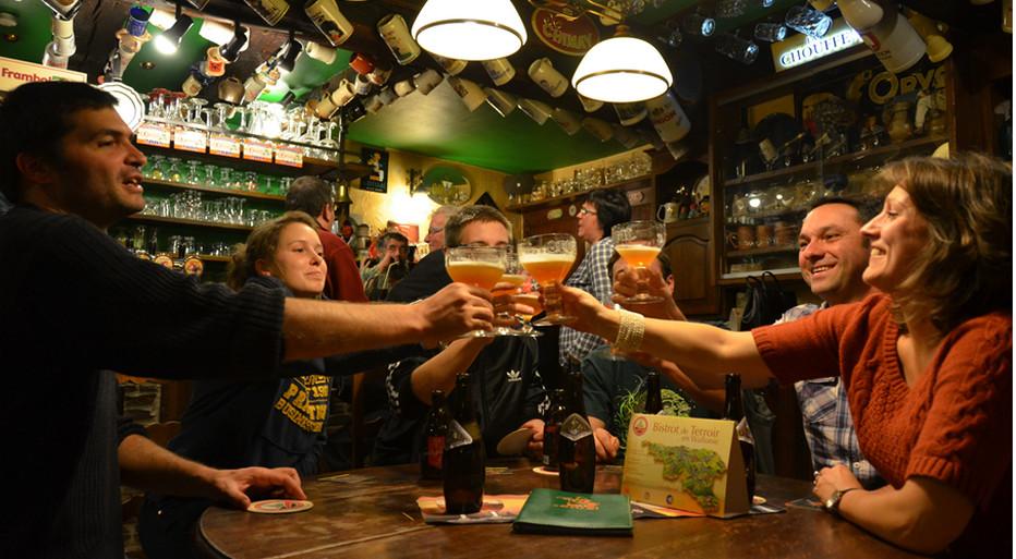 Produit phare de la Wallonie gourmande inscrite au patrimoine mondial de l'Unesco, la bière symbolise à elle seule l'esprit du partage et de la générosité belge.Crédit photo Pascal Willems.