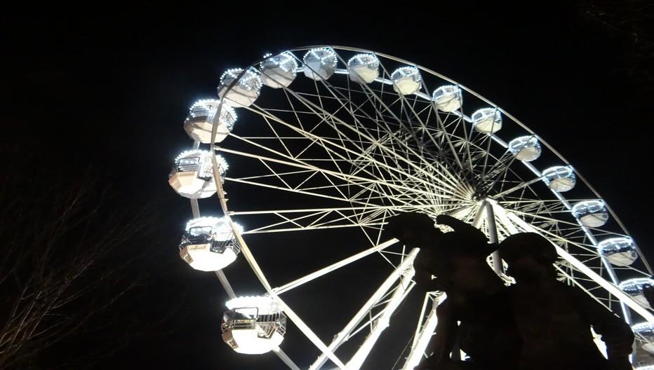 Durant un mois, cette grande roue fut la figure de proue des festivités nancéiennes. ©Bertrand Munier
