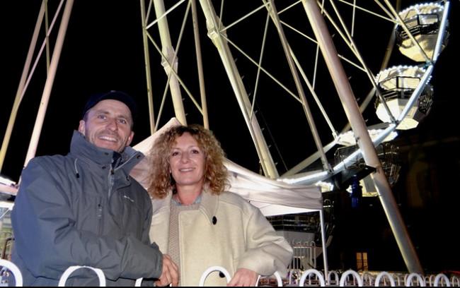 Grégory Verstiggel et son épouse Wally Garon ont présenté en Lorraine leur dernière attraction. ©Bertrand Munier