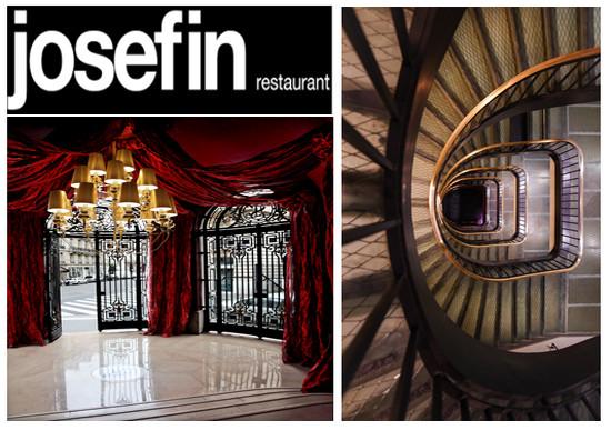 Les grilles majestueuses de l'entrée de l'Hôtel Banke et du restaurant Josefin donnent le ton et l'élégance de cet endroit parisien très branché. On peut y admirer l'escalier, oeuvre de Gustave Eiffel. (crédit photos hotelbanke.com)