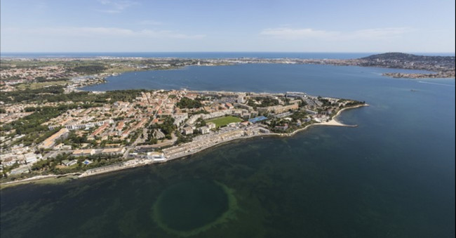 Vue aérienne de la Station Thermale de Balaruc-les-Bains @ Office de Tourisme de Balaruc-les-Bains