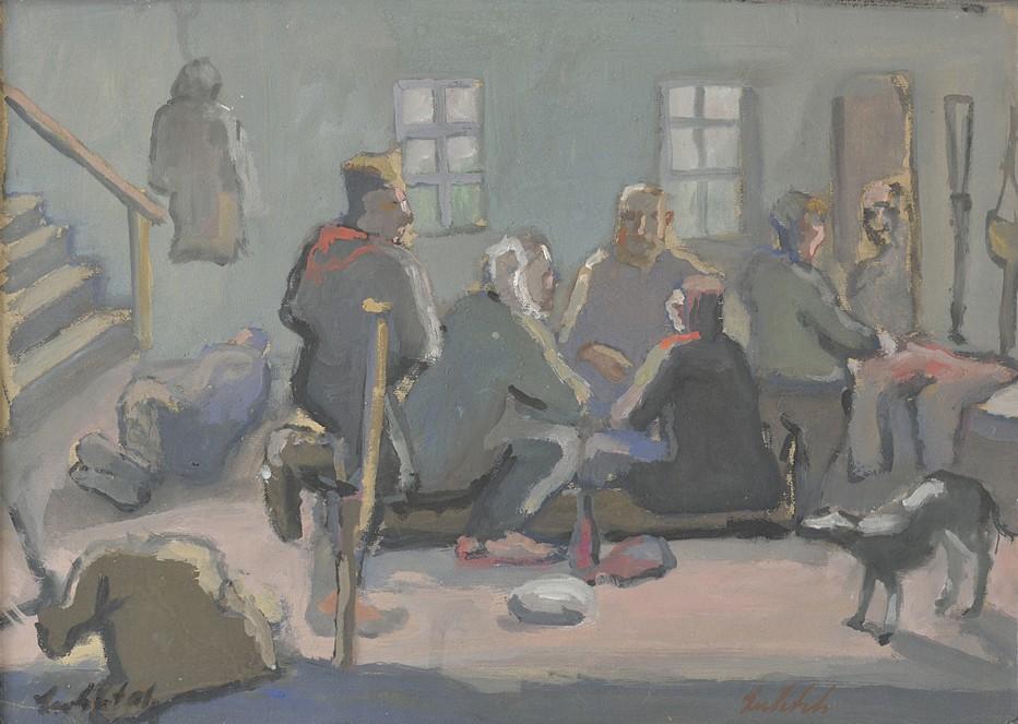Les « Bas Fonds » de Gorki, 1930 - Gouache sur papier - Signée en bas à gauche - 41 x 50 cm. Crédit photo Eric Pineau.