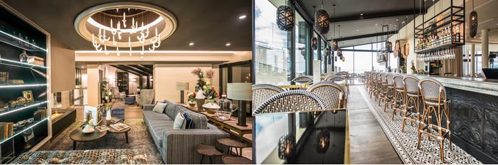 Un décor pour le Lobby , salon attenant et bar , dû au talent du décorateur, Eric Pacaud.  © D.R.