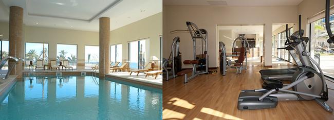 Salle de sports et spa au Villa Gale © VG Santa Cruz
