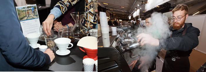 Les meilleurs baristas de France  présents à la Foire de Paris pour proposer leurs recettes originales et régaler les passants à chaque moment de la journée : expressos, cappuccinos. Copyright D.R.