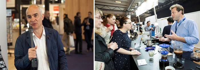 Stéphane Comar, président de SCA France. Les visiteurs de la Foire de Paris assistent au savoir-faire des professionnels réalisant le meilleur café.Copyright D.R.
