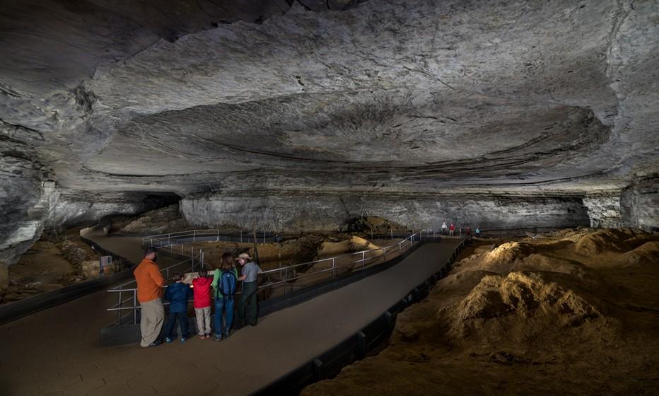 Mammoth Cave National Park  à moins d'une heure à l'est de Bowling Green, le plus grand réseau de grottes et de galeries souterraines – 663 km répertoriés en octobre 2017© DR